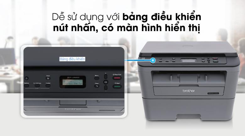 Máy In Laser Trắng Đen Brother đa năng In scan copy DCP-L2520D 3