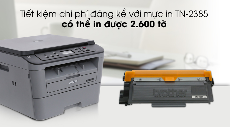 Máy In Laser Trắng Đen Brother đa năng In scan copy DCP-L2520D 4