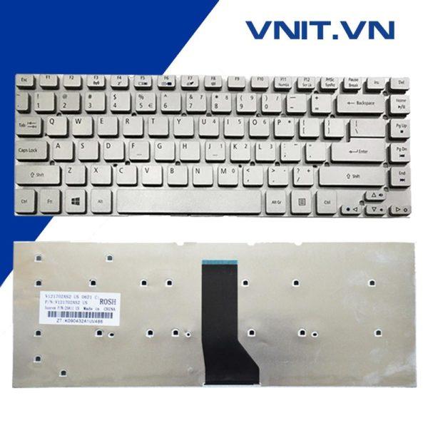 Bàn phím Acer Aspire 4830, V3-471, 4755G, E1-470P, E5-471, ES1-511, Acer TM P245, P246 Màu Bạc