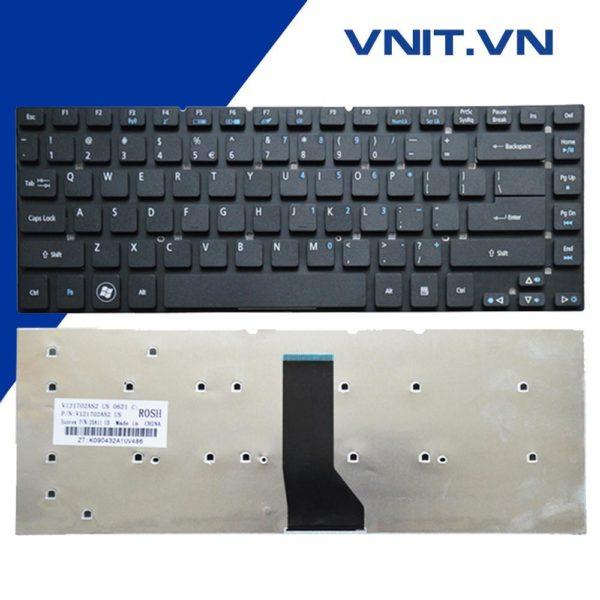 Bàn phím Acer Aspire 4830, V3-471, 4755G, E1-470P, E5-471, ES1-511, Acer TM P245, P246 Màu đen