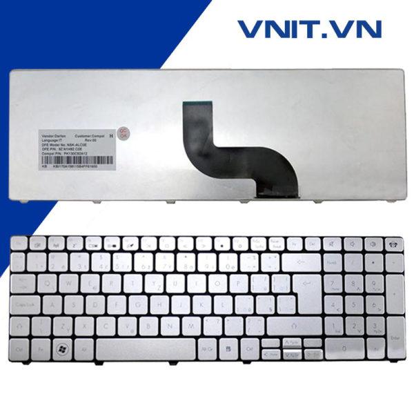 Bàn phím Acer Aspire 5738, 5810, 5536, GATEWAY NV59C, NV53, NV55, NV73, E1-521, E1-531, E1-571 Màu Bạc