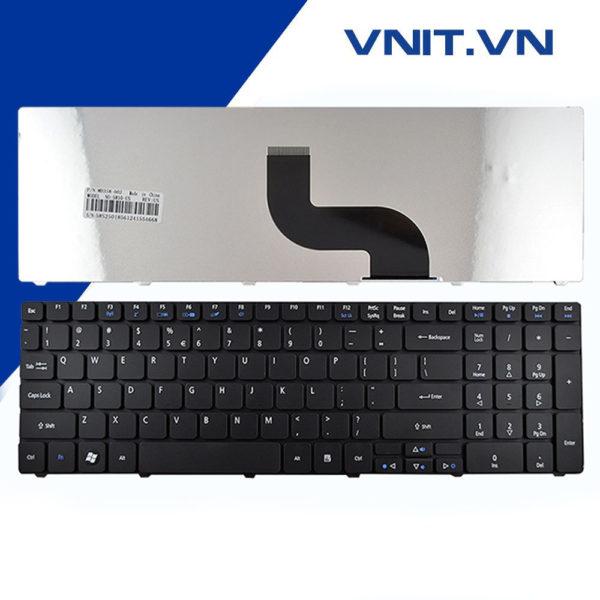 Bàn phím Acer Aspire 5738, 5810, 5536, GATEWAY NV59C, NV53, NV55, NV73, E1-521, E1-531, E1-571 Màu đen