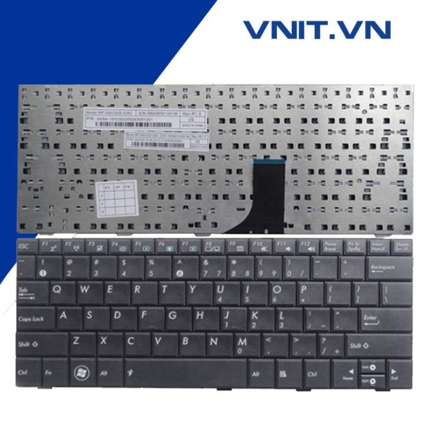 Bàn phím Asus 1001, 1005, 1008 Màu Đen - Keyboard Asus 1001, 1005, 1008 Black