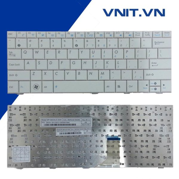 Bàn phím Asus 1001, 1005, 1008 Màu Trắng - Keyboard Asus 1001, 1005, 1008 White